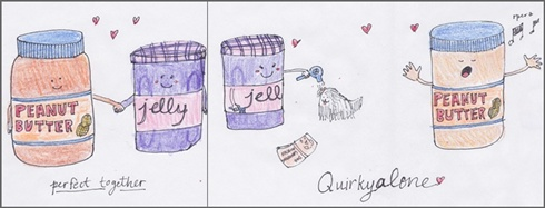 A quirkytogether card for Quirkyalone Day