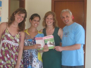 My Portuguese language teachers, me, and my fellow student, enjoying our very own Quirkyalone, or, SoSingular