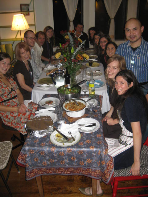 "Thanksgiving 2008, in my ""urban tribe"""